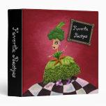 Lettuce Lady Personalized Recipe Vinyl Binders