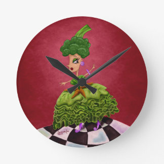 Lettuce Lady Round Clocks