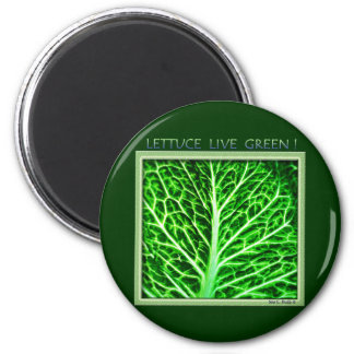 LETTUCE LIVE GREEN 2 INCH ROUND MAGNET