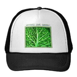 LETTUCE LIVE GREEN MESH HATS