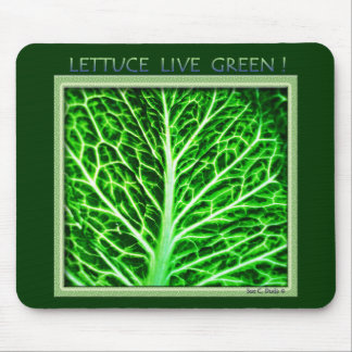 LETTUCE LIVE GREEN MOUSE PAD