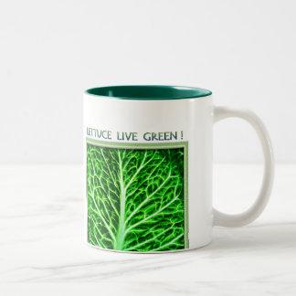 LETTUCE LIVE GREEN MUG