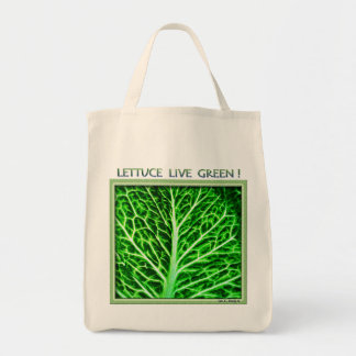 LETTUCE LIVE GREEN Shopping Bag
