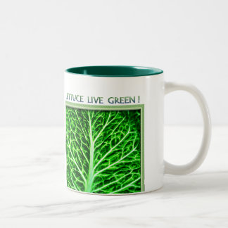 LETTUCE LIVE GREEN Two-Tone COFFEE MUG