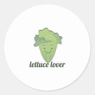Lettuce Lover Round Sticker