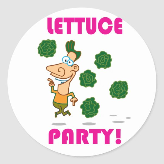 Lettuce PARTY! Classic Round Sticker