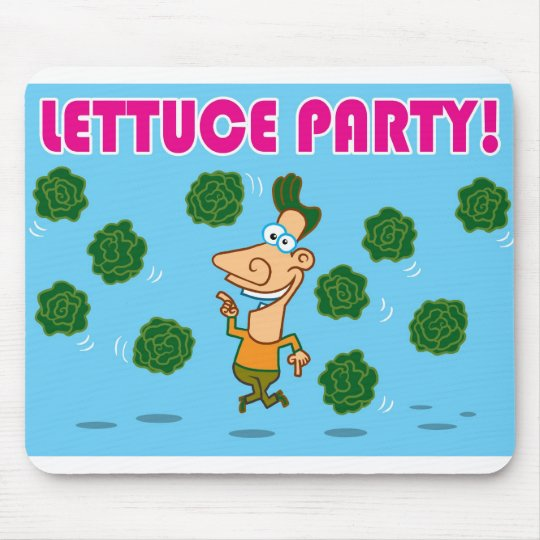 Lettuce Party! Mouse Pad