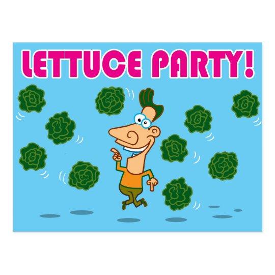 Lettuce Party! Postcard