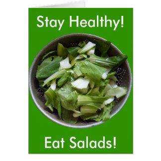 Lettuce Salad Card
