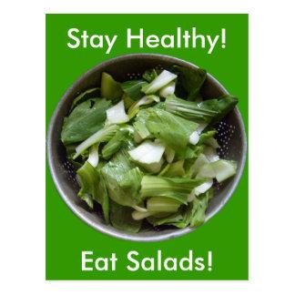 Lettuce Salad Postcard