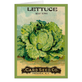 Lettuce Seed Pack Card
