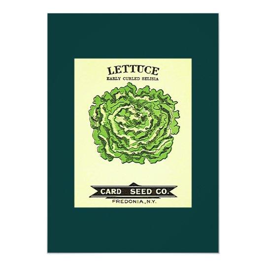 Lettuce Seeds Card Seed Company