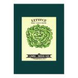 Lettuce Seeds Card Seed Company Invitación 12,7 X 17,8 Cm