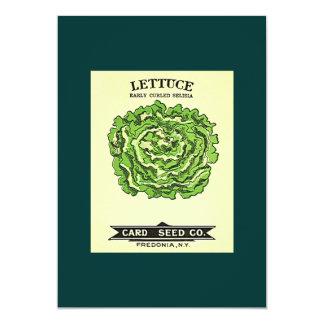 "Lettuce Seeds Card Seed Company 5"" X 7"" Invitation Card"