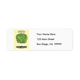 Lettuce Seeds Card Seed Company Label
