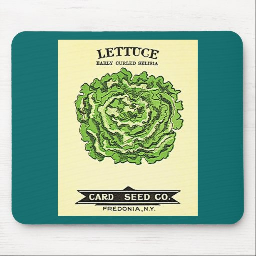 Lettuce Seeds Card Seed Company Mouse Pad