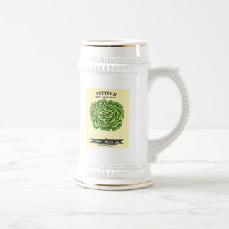 Lettuce Seeds Card Seed Company 18 Oz Beer Stein