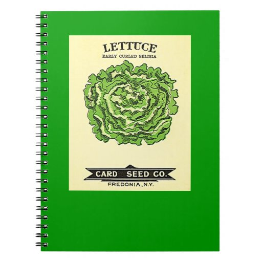 Lettuce Seeds Card Seed Company Notebook