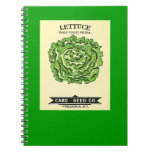 Lettuce Seeds Card Seed Company Spiral Note Book