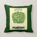Lettuce Seeds Card Seed Company Throw Pillow