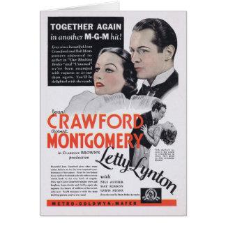 Letty Lynton Joan Crawford Robert Montgomery movie Greeting Cards