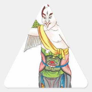 Leu-cheng-tze Pegatina Triangular