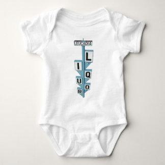 LEUCADIA LIQUOR SIGN BABY BODYSUIT