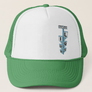 LEUCADIA LIQUOR SIGN TRUCKER HAT