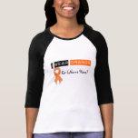 Leucemia anaranjada de la cinta del desgaste del p camiseta