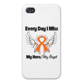 Leucemia cada Srta My Hero del día I iPhone 4 Funda
