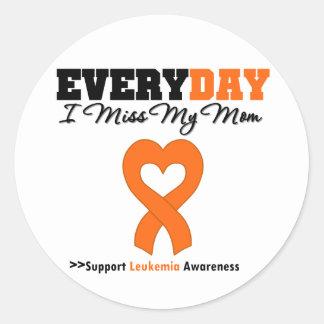 Leucemia cada Srta. My Mom del día I Pegatina Redonda