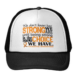Leucemia cómo es fuerte somos gorros bordados