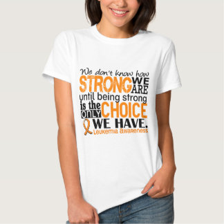 Leucemia cómo es fuerte somos remeras
