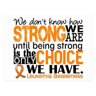Leucemia cómo es fuerte somos postal