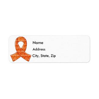 Leucemia cristalina anaranjada del ms del cáncer d etiqueta de remite