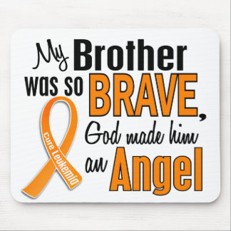 Leucemia de Brother del ángel Alfombrillas De Ratón