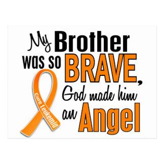 Leucemia de Brother del ángel Postales