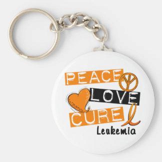 Leucemia de la curación del amor de la paz llavero