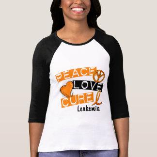 Leucemia de la curación del amor de la paz camiseta