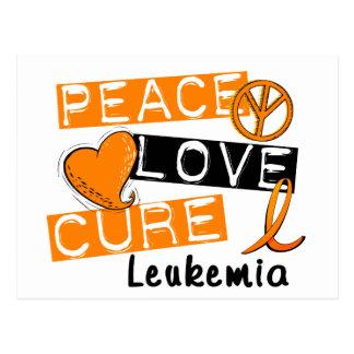 Leucemia de la curación del amor de la paz postal
