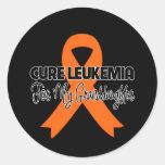 Leucemia de la curación para mi nieta etiquetas redondas