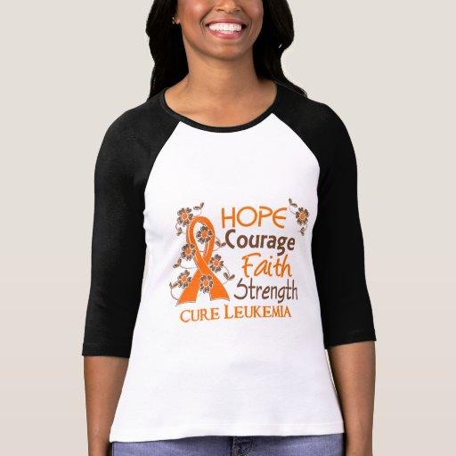 Leucemia de la fuerza 3 de la fe del valor de la e t shirt