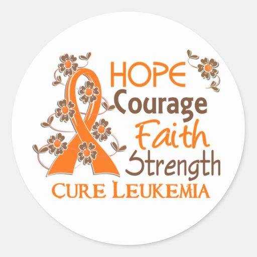 Leucemia de la fuerza 3 de la fe del valor de la etiquetas redondas