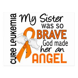 Leucemia de la hermana del ángel 2 tarjeta postal