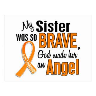 Leucemia de la hermana del ángel tarjeta postal