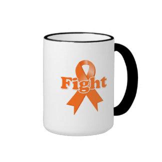 Leucemia de la lucha taza de dos colores