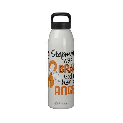 Leucemia de la madrastra del ángel 2 botella de agua reutilizable