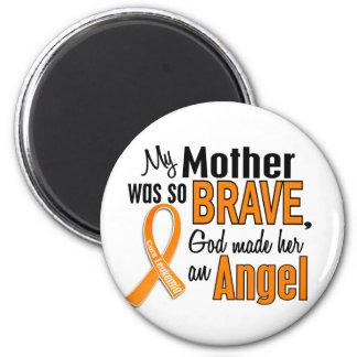 Leucemia de la madre del ángel imán redondo 5 cm
