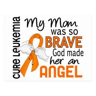 Leucemia de la mamá del ángel 2 tarjeta postal