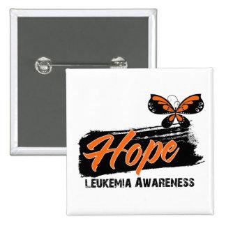 Leucemia de la mariposa del tatuaje de la esperanz pins
